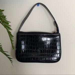 Handbags - Black Reptile Skin Purse